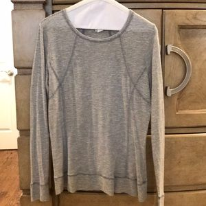 Light weight thin stripe Cabi long sleeve top
